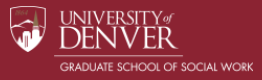 University of Denver Online Master of Social Work (MSW)